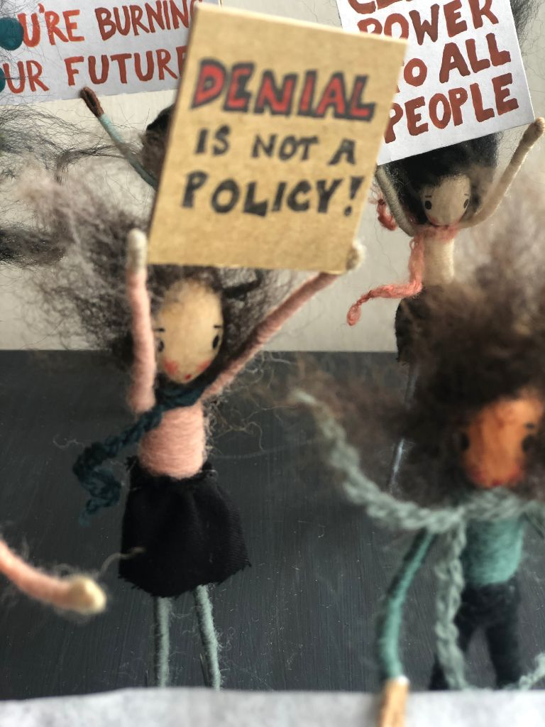 protesting puppets for the environment